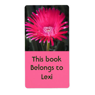 Red Spike Ice Plant Bloom Bookplate Shipping Label