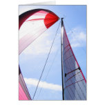 Red Spinnaker With Sun Greeting Card