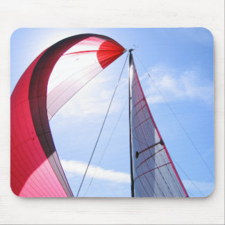 Red Spinnaker With Sun Mouse Mat