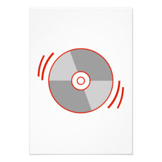 Red Spinning CD Personalized Announcements