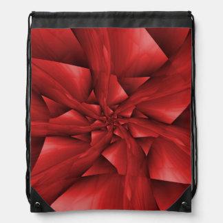 Red Spiral Arms Drawstring Bag