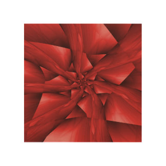 Red Spiral Arms Wood Canvas