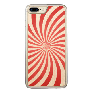 Red spiral carved iPhone 7 plus case
