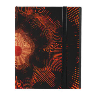 Red Spiral Psychedelic iPad Cover