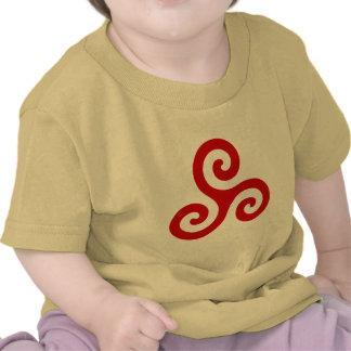 Red Spiral Triskele T-shirt