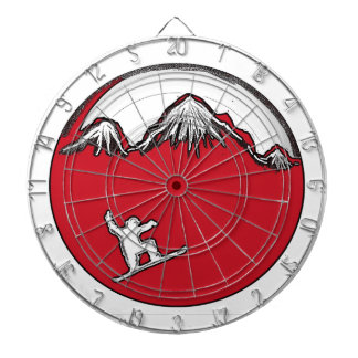Red splash snowboard theme dart board