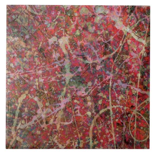 """""""Red Splash"""" Tile"""