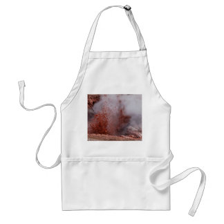 RED SPLASHES OF BOILING WATER AND MUD STANDARD APRON