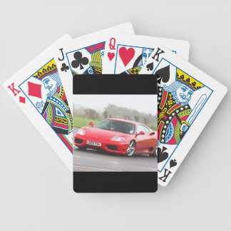 Red Sports Car Bicycle Playing Cards