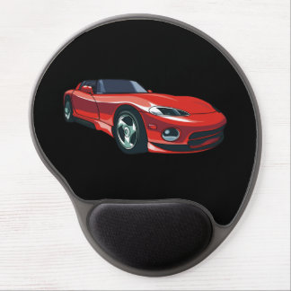 Red Sports Car Gel Mouse Mat