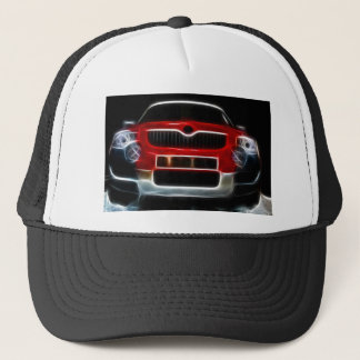 Red Sports Car Trucker Hat