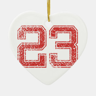Red Sports Jerzee Number 23 Christmas Ornament