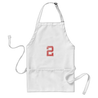 Red Sports Jerzee Number 2 Adult Apron