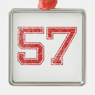 Red Sports Jerzee Number 57 Christmas Ornament