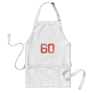 Red Sports Jerzee Number 60 Apron