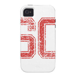Red Sports Jerzee Number 60 iPhone 4/4S Covers