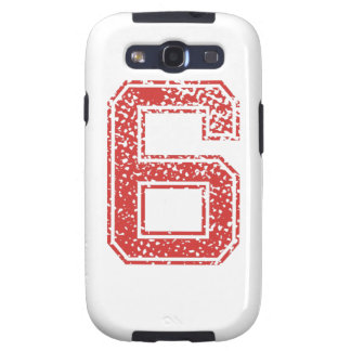 Red Sports Jerzee Number 6 Galaxy SIII Covers