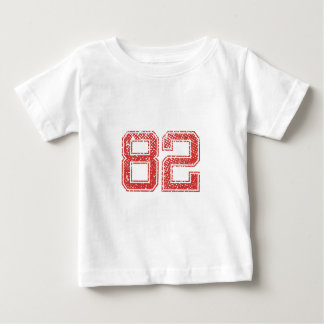 Red Sports Jerzee Number 82 Tees