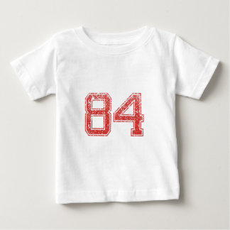 Red Sports Jerzee Number 84 Shirts