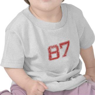 Red Sports Jerzee Number 87 Shirts
