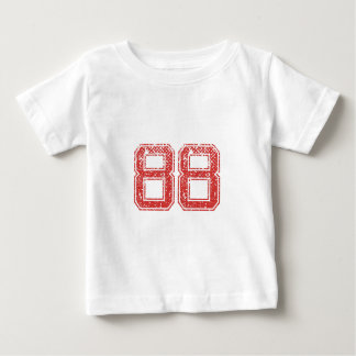 Red Sports Jerzee Number 88 Infant T-Shirt