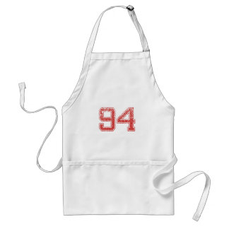 Red Sports Jerzee number 94 Apron