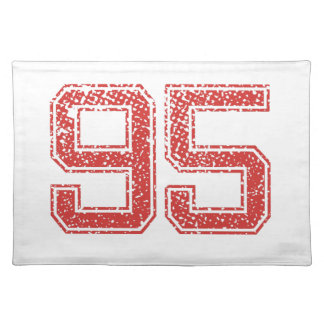 Red Sports Jerzee Number 95 Cloth Place Mat