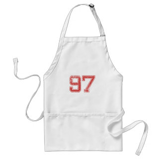 Red Sports Jerzee number 97 Apron