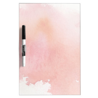 Red spot, watercolor abstract hand painted dry erase board