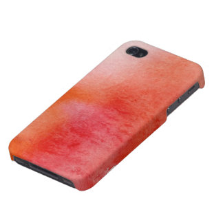 Red spot, watercolor abstract hand painted iPhone 4 covers