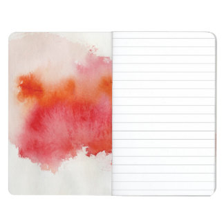 Red spot, watercolor abstract hand painted journal