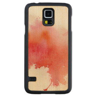 Red spot, watercolor abstract hand painted maple galaxy s5 slim case