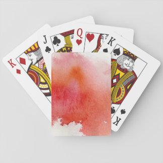 Red spot, watercolor abstract hand painted playing cards
