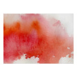 Red spot, watercolor abstract hand painted poster