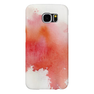 Red spot, watercolor abstract hand painted samsung galaxy s6 cases