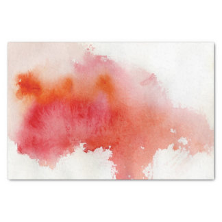 Red spot, watercolor abstract hand painted tissue paper