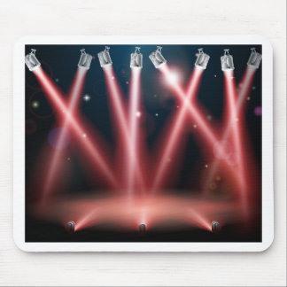 Red spotlights background mousemats