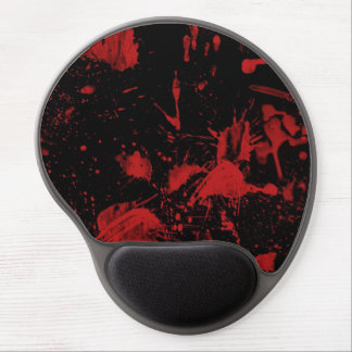red spots on a black background gel mouse pad