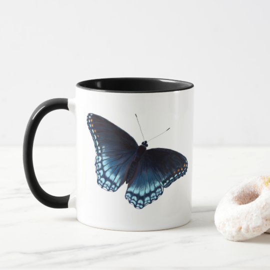 Red-Spotted Purple Admiral Butterfly Painting Mug