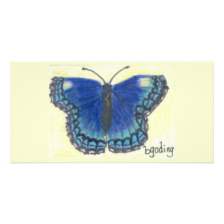 Red Spotted Purple Butterfly by Beverly Goding Personalized Photo Card