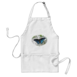 Red Spotted Purple Butterfly Series Adult Apron