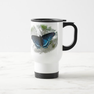 Red Spotted Purple Butterfly Series Stainless Steel Travel Mug