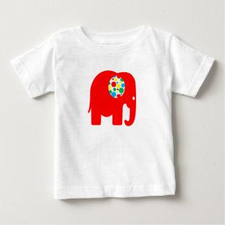 Red, spotty, gender neutral, elephant t-shirt