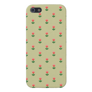 Red Spring Tulip Flowers iPhone 5 Case