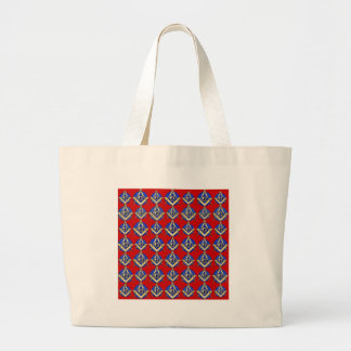 Red Square Compass Mason Bags