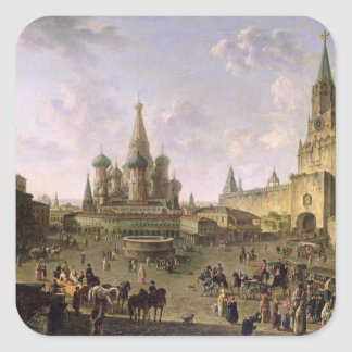 Red Square, Moscow, 1801 Square Sticker
