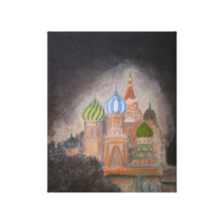 Red Square Moscow Painting prints Canvas Print