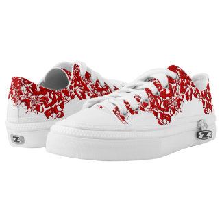 Red Squiggles Low Tops