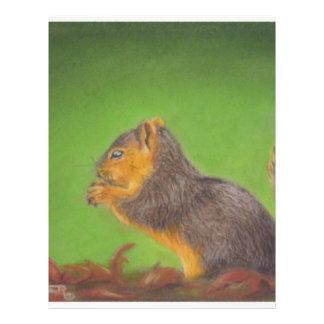 Red Squirrel Flyer Design