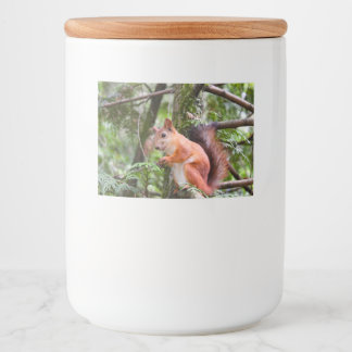 Red Squirrel Food Label